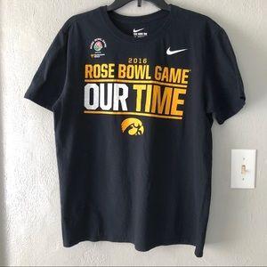 Nike Iowa Hawkeye Rose Bowl Graphic Tee Men's L
